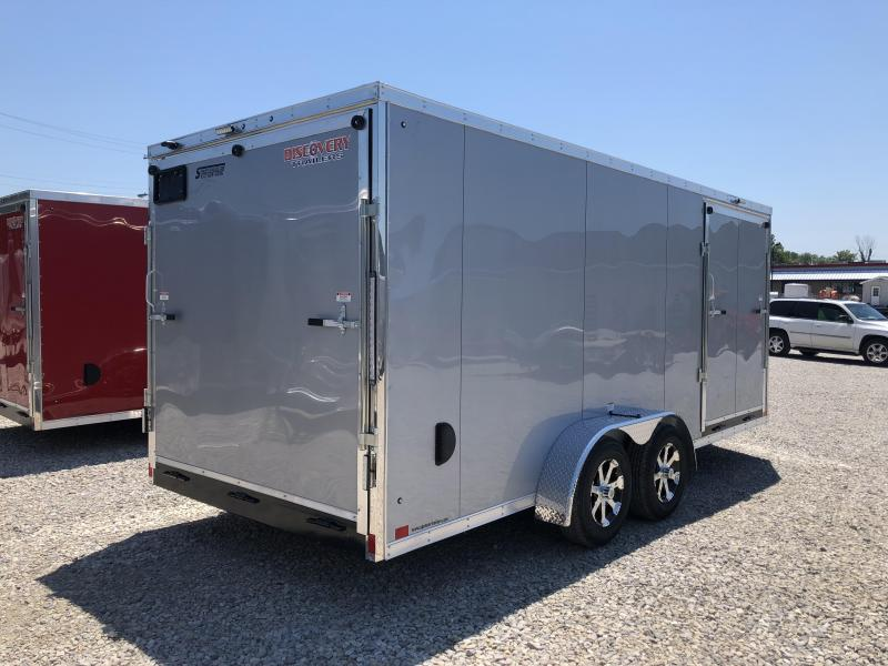 2019 7'x18' 7K Discovery Enclosed Cargo Trailer. 3021