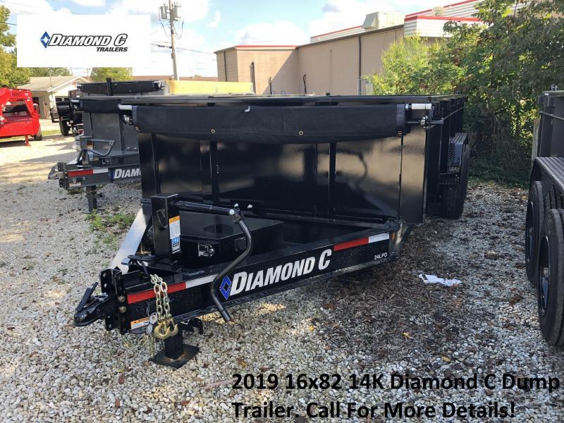 2019 16x82 14K Diamond C Dump Trailer. 4965