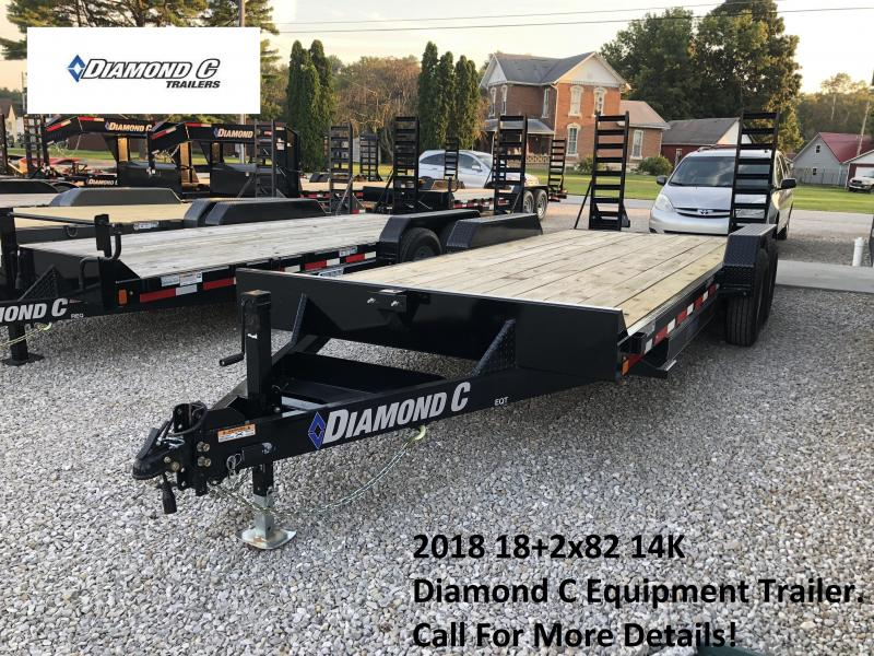 2018 18+2x82 14K Diamond C Equipment Trailer. 4291