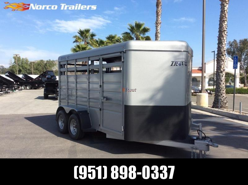 2018 Travalong 6.8 x 14 Tandem Axle Livestock Trailer