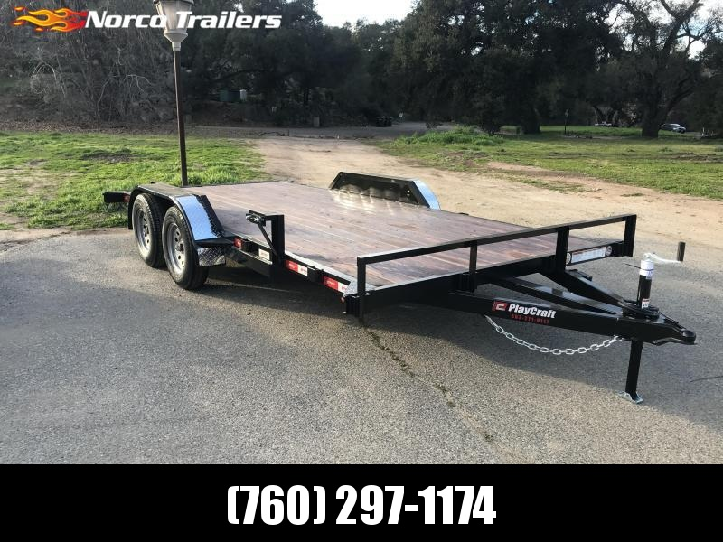 "2019 Playcraft 82"" x 16' Car Hauler Flatbed Trailer"