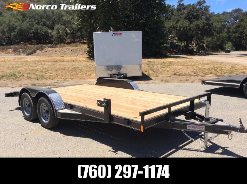 "2018 Innovative Trailer Mfg. Wood Floor Car Hauler 83"" x 16' Flatbed Trailer"