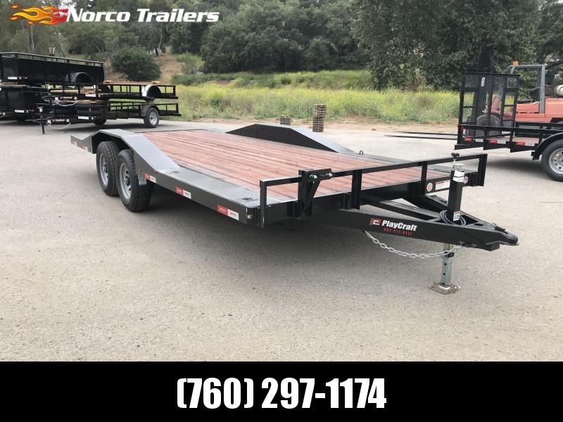 "2019 Playcraft 102"" x 18' 10K Flatbed Auto / Equipment Trailer in Ashburn, VA"