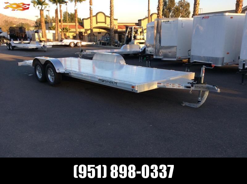 2018 Featherlite 8.5 x 20' 3182 Flatbed Car / Racing Trailer
