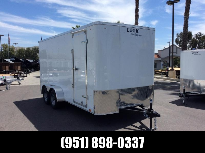 2019 Look Trailers STLC 7 X 16 Tandem Axle Enclosed Cargo Trailer