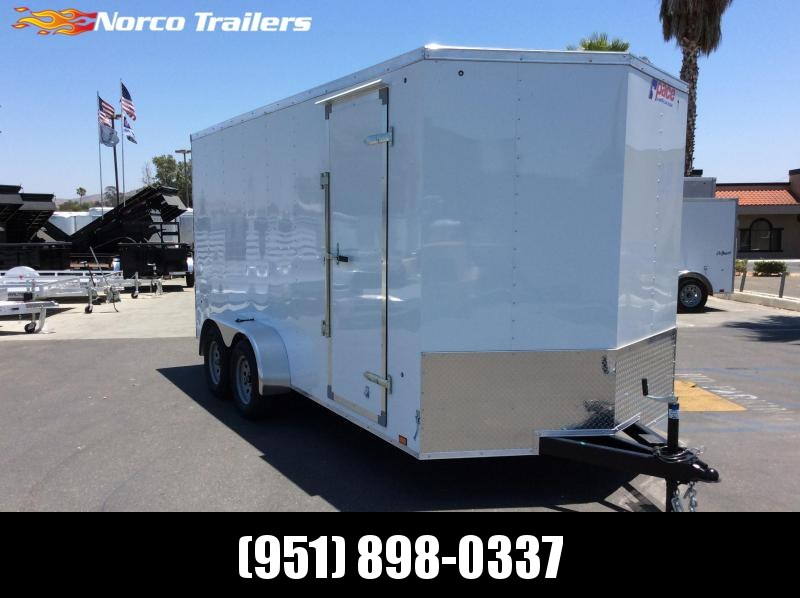 2018 Pace American Outback 7 x 16 Tandem Axle Enclosed Cargo Trailer