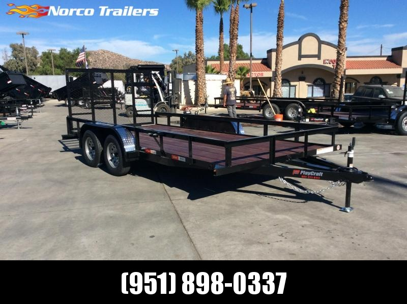 "2019 Sun Country 82"" x 16' Tandem Axle Utility Trailer"