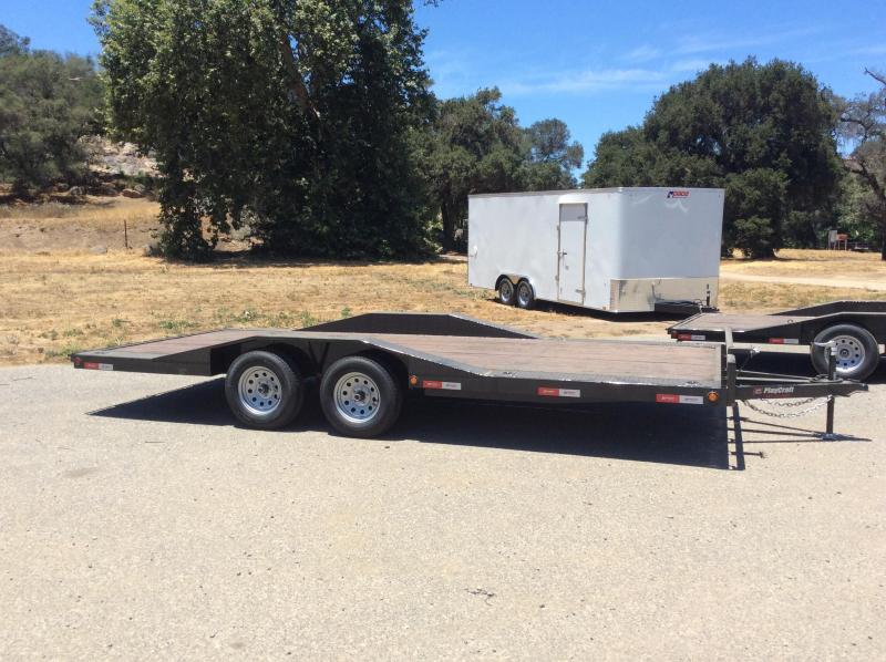 """2018 Sun Country Playcraft 102"""" x 18' Tandem Axle DriveOver Fender Flatbed Trailer"""