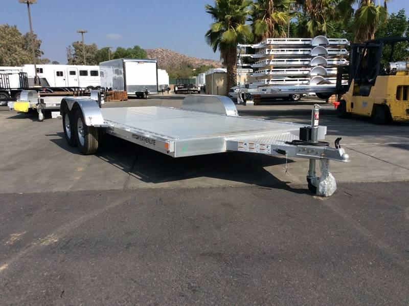 2018 Featherlite 3182 8.5' x 16' Flatbed Car Trailer
