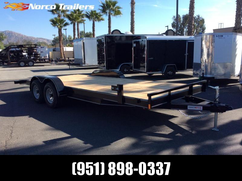 2019 Innovative Trailer Mfg. Economy Wood Equipment Hauler 83 x 20 Tandem Axle Flatbed Trailer