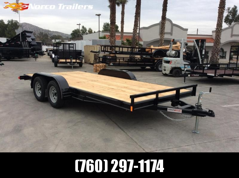 2019 Innovative Trailer Mfg. Economy Wood Car Hauler 83 X 16 Flatbed Trailer