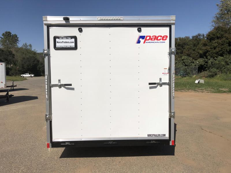 2019 Pace American Outback Vnose 7\' x 16\' Enclosed Cargo Trailer ...