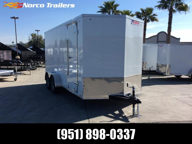 2019 Pace American OBV 7 X 16 Tandem axle Enclosed Cargo Trailer