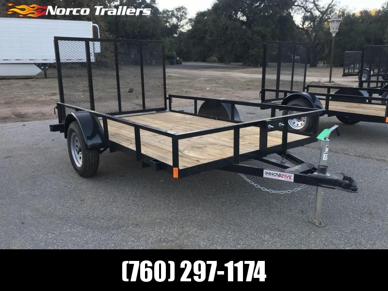 "2018 Innovative Trailer Mfg. Economy Wood Single Axle 77"" x 10' Utility Trailer"