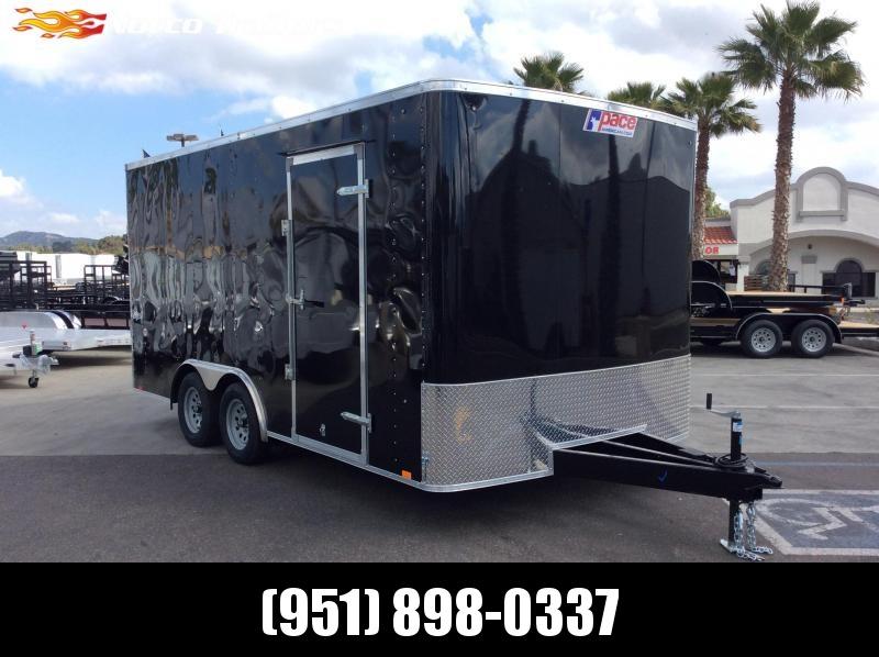 2019 Pace American Outback 8.5' x 16' Tandem Axle Enclosed Car/racing Trailer in Ashburn, VA