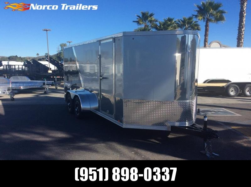 2019 Look Trailers VWLM 7 X 16 Tandem axle Enclosed Motorcycle Trailer