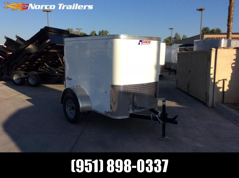 2019 Pace American OB 4' x 6' Single Axle Enclosed Cargo Trailer