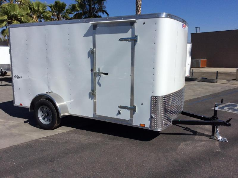 2018 Pace American Outback 6 X 12 Single Axle Enclosed Cargo Trailer