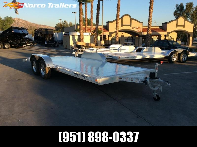2019 Featherlite 3182 8.5' x 18' 7k Flatbed Car Trailer ... on
