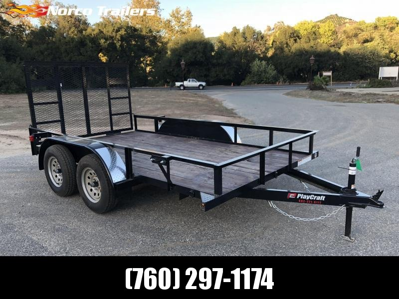"2018 Playcraft 77"" x 12' Light Duty Tandem Axle Utility Trailer"
