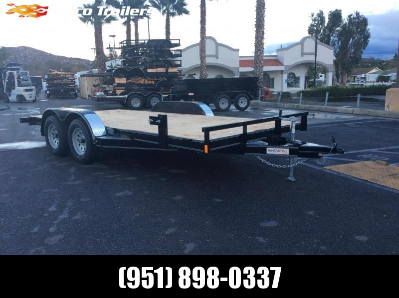 2019 Innovative Trailer Mfg. Wood Floor Car Hauler 83 x 16 Tandem Axle Flatbed Trailer