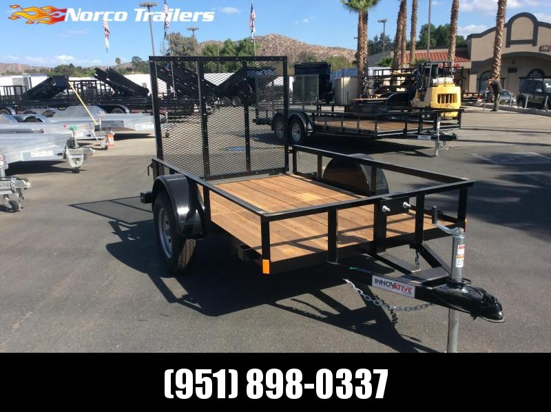 2019 Innovative Trailer Mfg. Economy Wood Single Axle 5' x 8' Utility Trailer