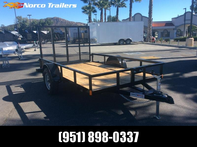 "2019 Innovative Trailer Mfg. Economy Wood 72"" x 10' Single Axle Utility Trailer"