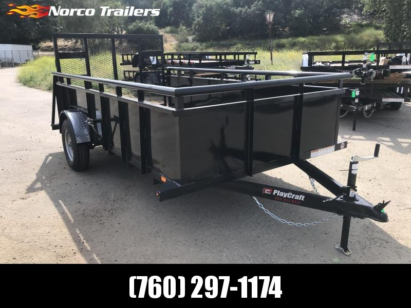 "2019 Playcraft 77"" x 12' Landscape Single Axle Utility Trailer"