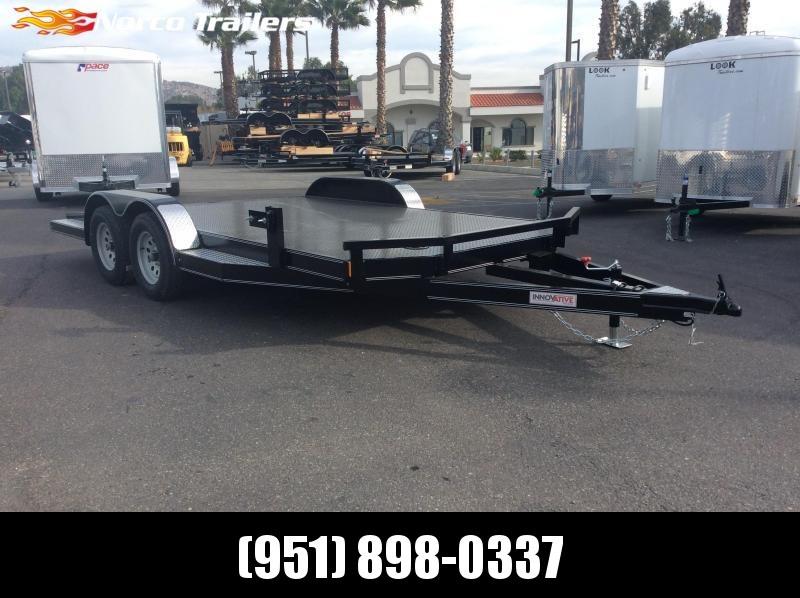 "2019 Innovative Trailer Mfg. Steel Floor Car Hauler 83"" x 16' Tandem Axle Flatbed Trailer"