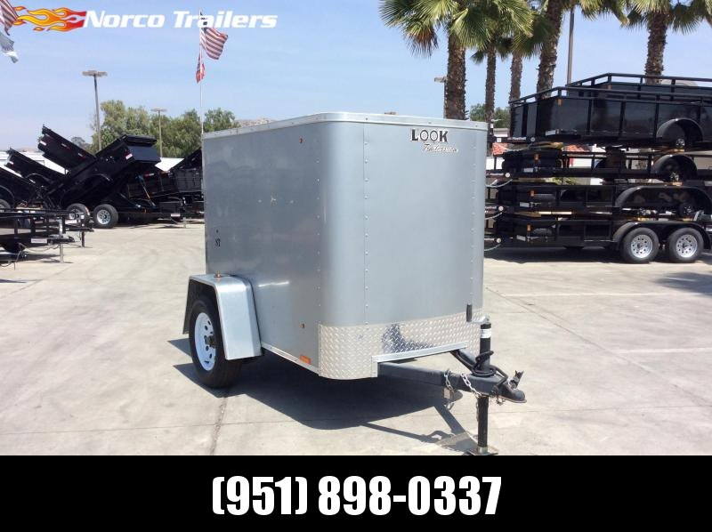 2014 Look Trailers 4 x 6 Single Axle Enclosed Cargo Trailer
