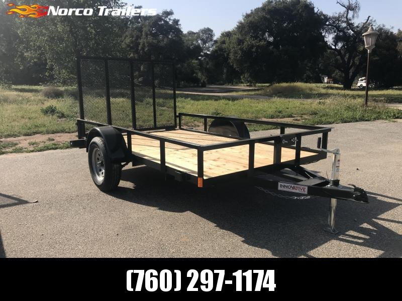 "2018 Innovative Trailer Mfg. Economy Wood 72"" x 10' Single Axle Utility Trailer"