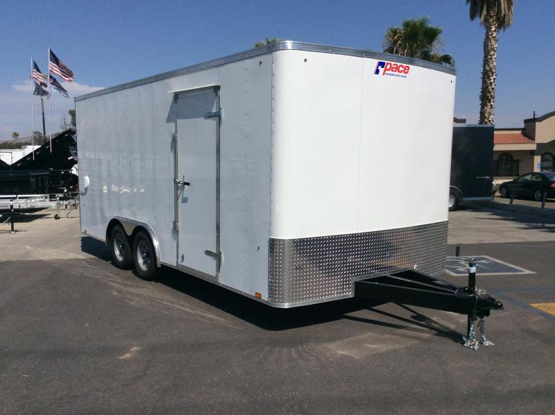 2019 Pace American Outback 8.5 x 18' Tandem Axle Car / Racing Trailer
