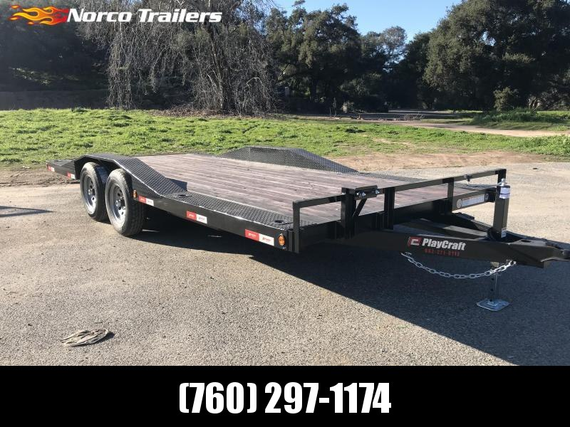 2019 Playcraft 102'' x 18' Driveover fender 10K Auto / Equipment Trailer