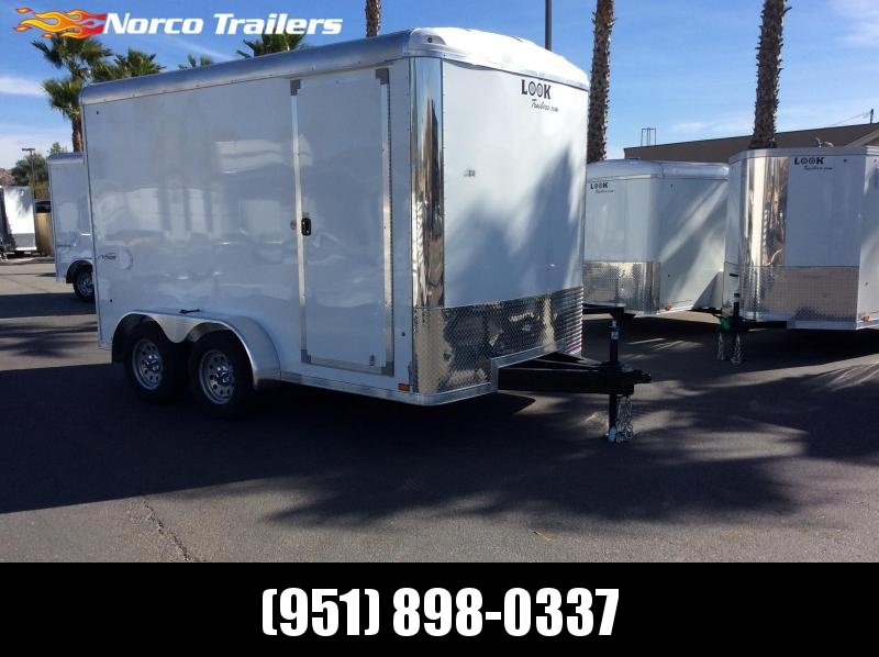 2019 Look Trailers Vision 7' x 12' Tandem Axle Enclosed Cargo Trailer