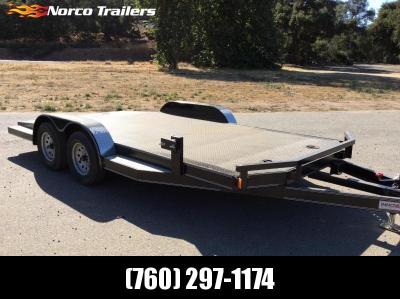 "2018 Innovative Trailer Mfg. Steel Deck Car Hauler 83"" x 16' Flatbed Auto Trailer"