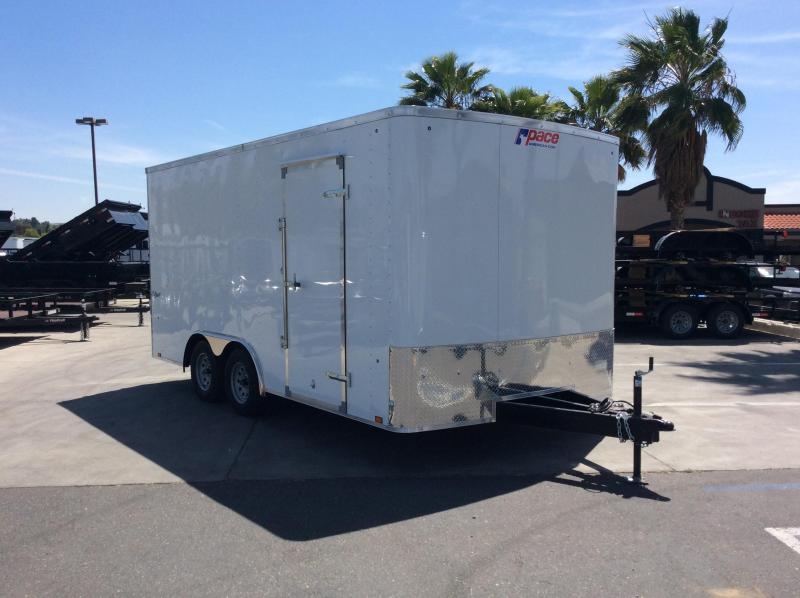 2019 Pace American Outback 8.5' x 16' Tandem Axle Car / Racing Trailer