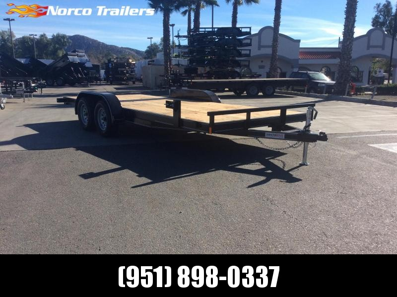 "2019 Innovative Trailer Mfg. Economy Wood Car Hauler 83"" x 18' Tandem Axle Flatbed Trailer"