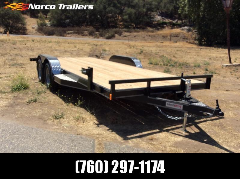 "2018 Innovative Trailer Mfg. Wood Floor Car Hauler 83"" x 18' Flatbed Trailer"
