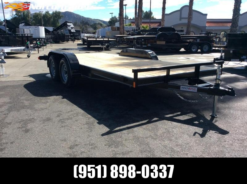 "2019 Innovative Trailer Mfg. Economy Car Hauler 83"" x 16' Flatbed Trailer"