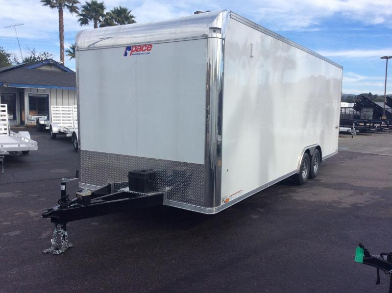 2019 Pace American Pursuit 8.5 x 24 Tandem Axle Car / Racing Trailer