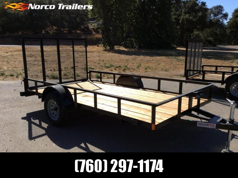 "2018 Innovative Trailer Mfg. Economy Wood 77"" x 12' Single Axle Utility Trailer"