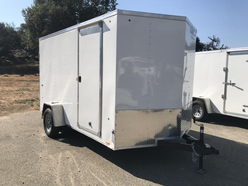 2019 Look Trailers STVLC Vnose 7' x 12' Enclosed Cargo Trailer with Brakes
