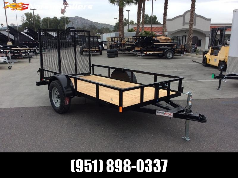 2019 Innovative Trailer Mfg. Economy Wood Single Axle  60 X 10 Utility Trailer