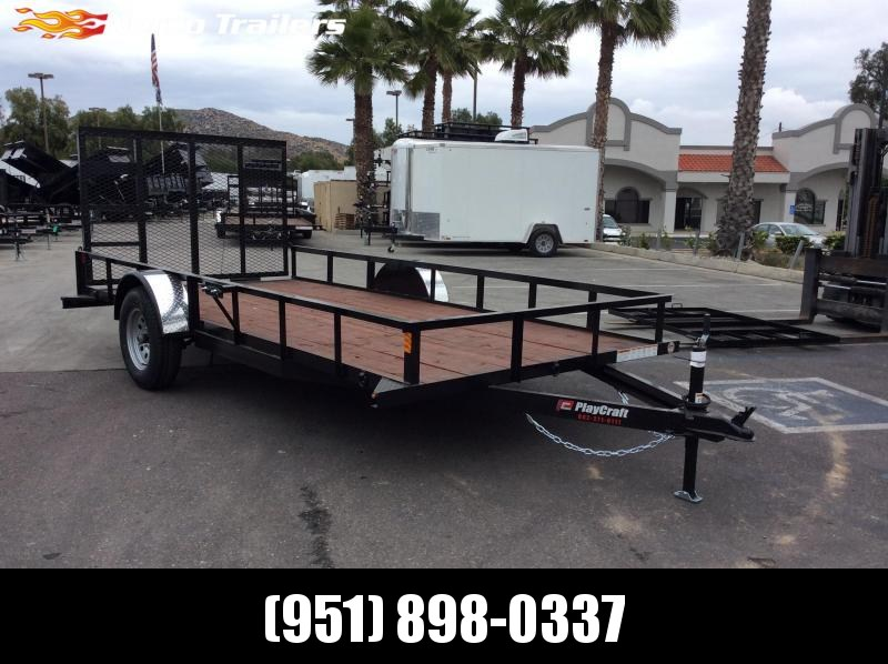 2019 Playcraft 77 x 14 Single Axle Utility Trailer