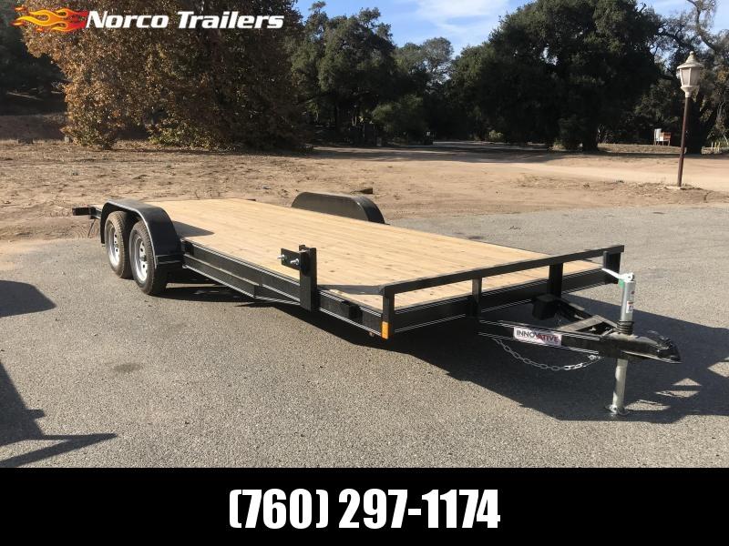 "2018 Innovative Trailer Mfg. Economy Wood Car Hauler 83"" x 20' Flatbed Trailer"