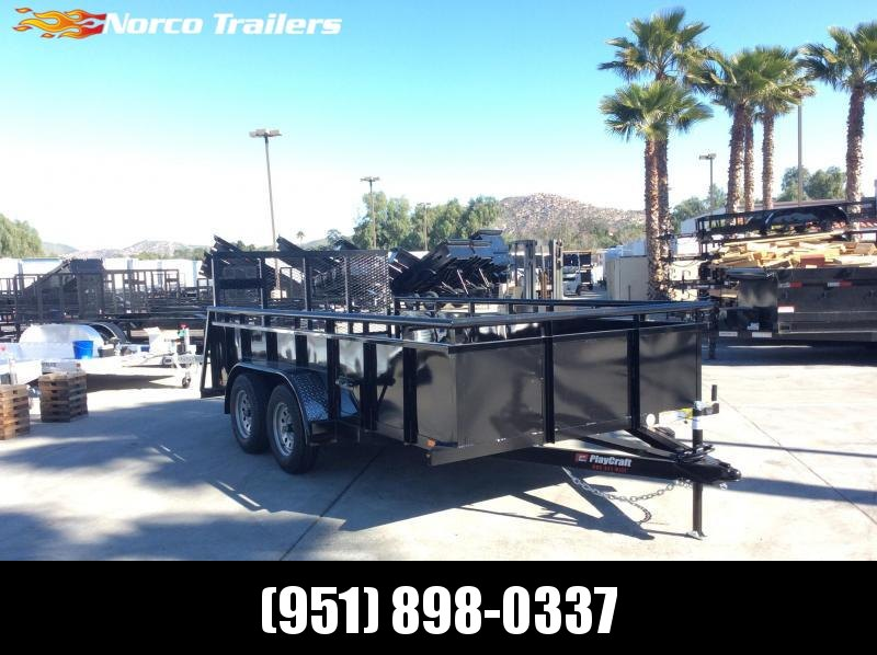 "2019 Sun Country 82"" x 14' Landscape Tandem Axle Utility Trailer"