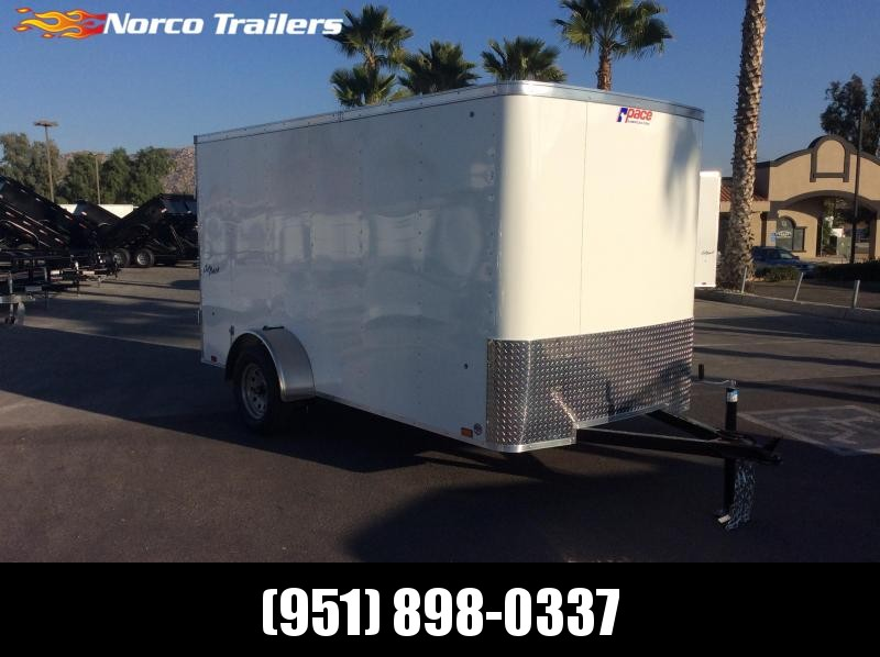 2019 Pace American Outback 6' x 12' Single Axle Enclosed Cargo Trailer