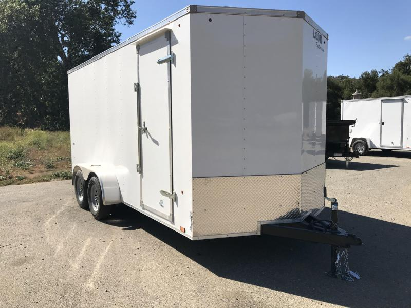 2019 Look Trailers Vnose STLC 7' x 16' Enclosed Cargo Trailer