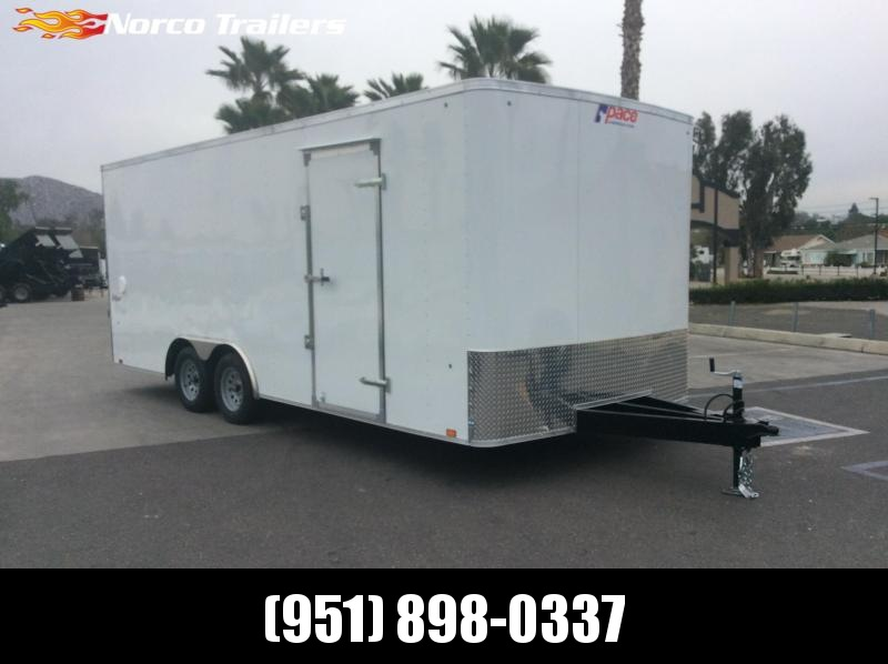 2019 Pace American OB 8.5 X 20 Tandem axle Enclosed Car / Racing Trailer
