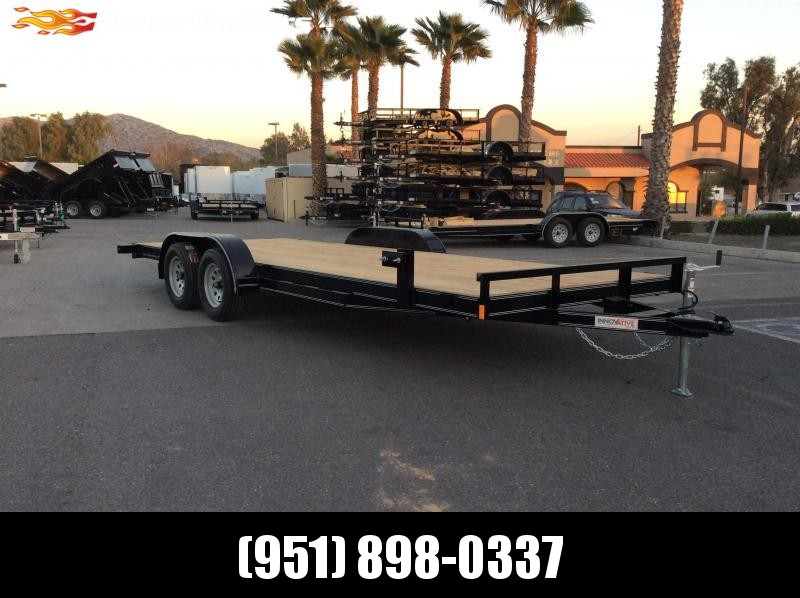 "2019 Impact Trailers Economy Wood Car Hauler 83"" x 20' Tandem Axle Flatbed Trailer"